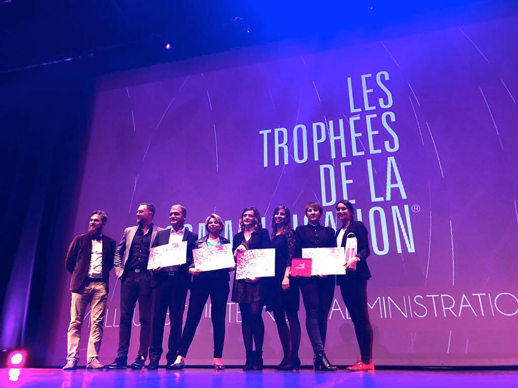 Lauréats des trophées de la communication